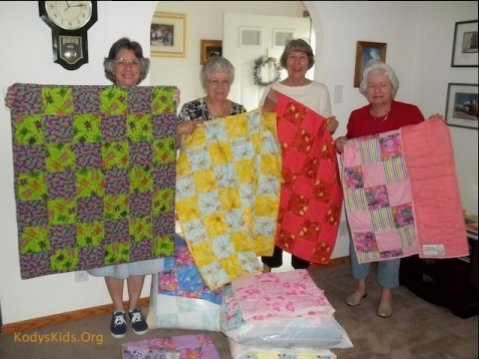 Beautiful Quilts Donated to Kody's Comfort Quilt Project.