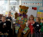 Kody and the Early Learning Team visited the Cooperative Preschool and had a great time learning, letters, colors, healthy eating and much more.
