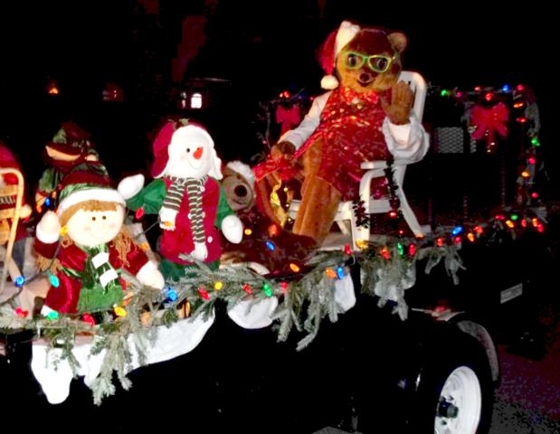 Kody O'Bear & team in Christmas parade.