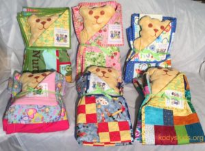 Handmade Quilts used in the Kody's Kids Comfort Quilt Program